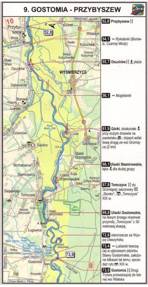 Szlak kajakowy Pilicy - Gostomia Przybyszew