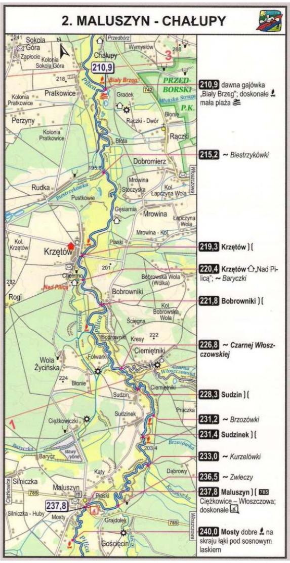 Szlak kajakowy Pilicy - Maluszyn Chałupy