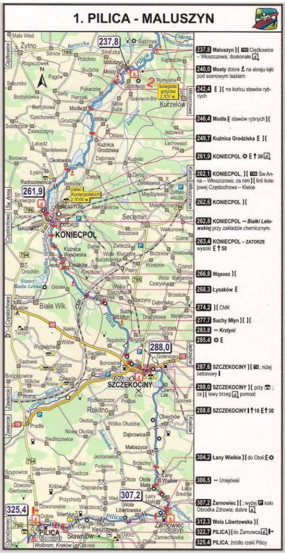 Szlak kajakowy Pilicy - Pilica Maluszyn